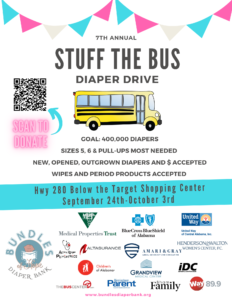 7th Annual Stuff the Bus Diaper Drive with Bundles of Hope Diaper Bank